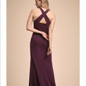BHLDN KLARA MIDNIGHT FLOOR LENGTH DRESS